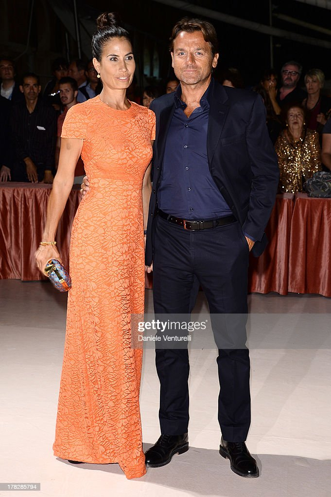 Juliet Linley and Alessio Vinci attend the Opening Ceremony during The 70th Venice International Film Festival on August 28, 2013 in Venice, Italy.