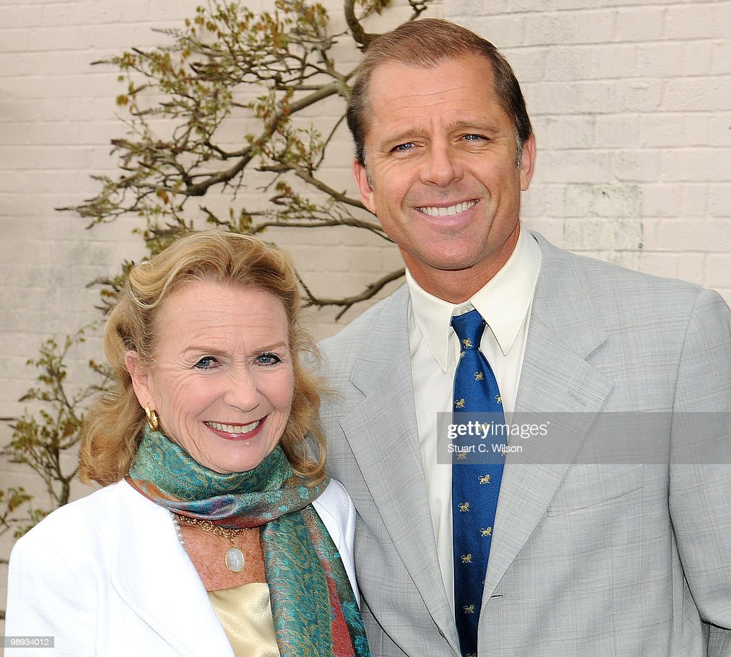 Juliet Mills and Maxwell Caulfield attend a plaque unveiling for the late actor, Sir John Mills at Pinewood Studios on May 9, 2010 in London, England.