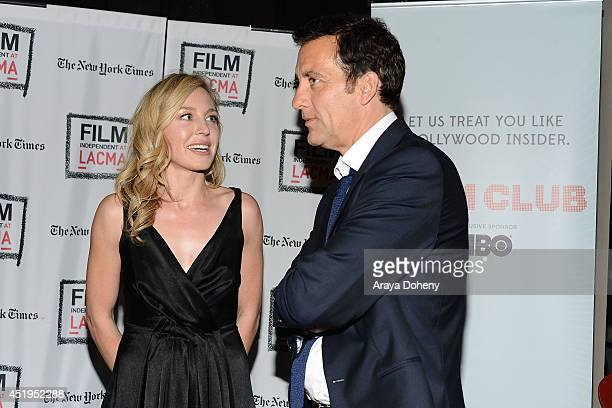 Juliet Rylance and Clive Owen attend the Film Independent screening and QA of 'The Knick' at Bing Theatre At LACMA on July 9 2014 in Los Angeles...