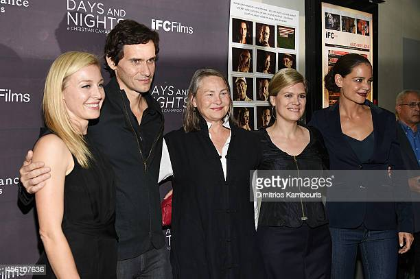 Juliet Rylance Christian Camargo Cherry Jones guest and Katie Holmes attend the premiere of 'Days And Nights' at the IFC Center on September 25 2014...