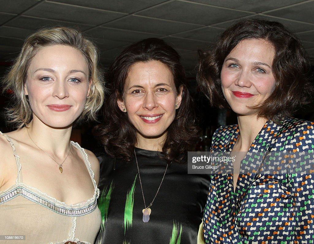 Juliet Rylance Jessica Hecht and Maggie Gyllenhaal attend the Opening Night After Party for 'Three Sisters' OffBroadway at Pangea on February 3 2011...