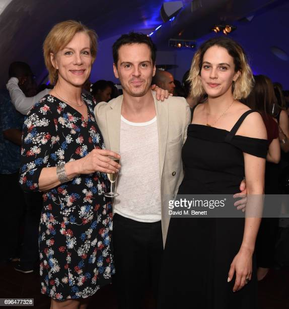 Juliet Stevenson Andrew Scott and Jessica BrownFindlay attend the press night after party for The Almeida Theatre's 'Hamlet' playing at the Harold...