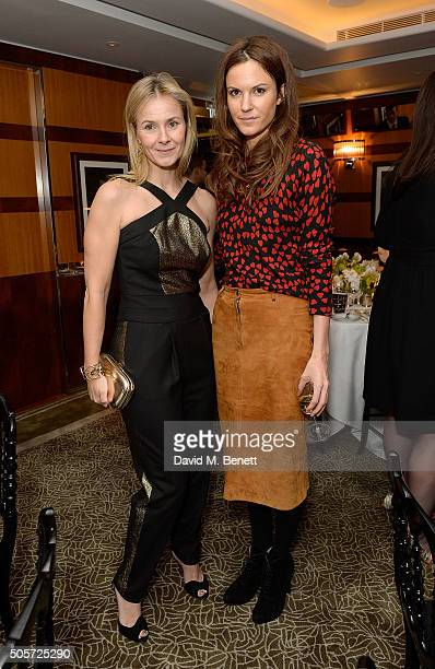 Julietta Dexter and Fran Hickman attend a dinner in honour of Justine Picardie to celebrate the book 'Dior by Avedon' at the Beaumont Hotel on...