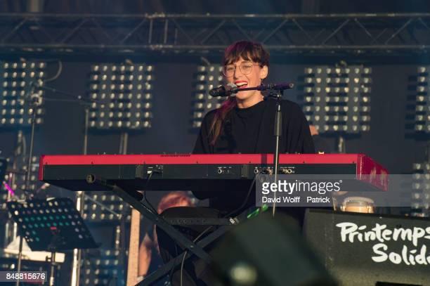 Juliette Armanet performs at Printemps Solidaire at Place de la Concorde on September 17 2017 in Paris France