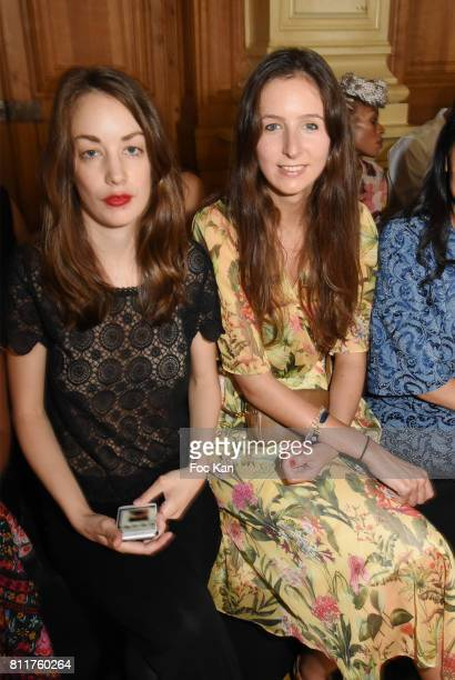 Juliette Besson and Clemence Rochefort attend the Dany Attrache Haute Couture Fall/Winter 20172018 show as part of Haute Couture Paris Fashion Week...