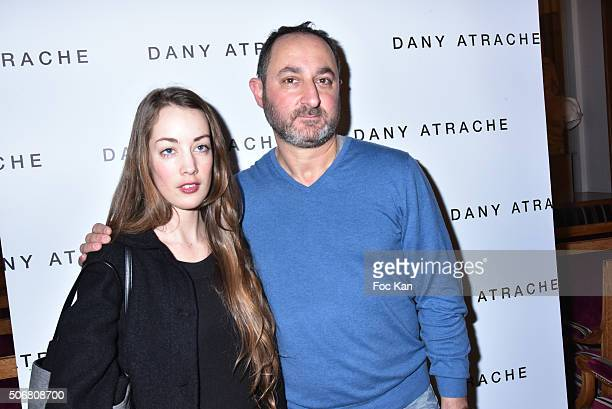 Juliette Besson and Dany Atrache attend the Dany Atrache Spring Summer 2016 show as part of Paris Fashion Week on January 25 2016 in Paris France