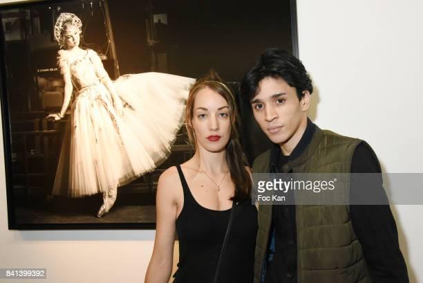 Juliette Besson and PR Tony Boccara attend 'Bolchoi' Vincent Perez Photo Exhibition Preview at Royal Monceau on August 31 2017 in Paris France
