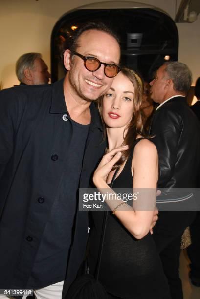Juliette Besson and Vincent Perez attend 'Bolchoi' Vincent Perez Photo Exhibition Preview at Royal Monceau on August 31 2017 in Paris France