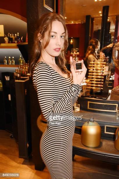 Juliette Besson attends 'Nuit Jovoy Rose Millesimee' at Jovoy Store on September 18 2017 in Paris France