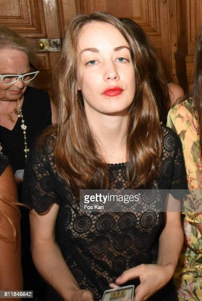 Juliette Besson attends the Dany Attrache Haute Couture Fall/Winter 20172018 show as part of Haute Couture Paris Fashion Week on July 4 2017 in Paris...