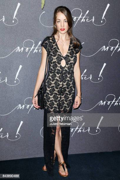 Juliette Besson attends the French Premiere of 'mother' at Cinema UGC Normandie on September 7 2017 in Paris France
