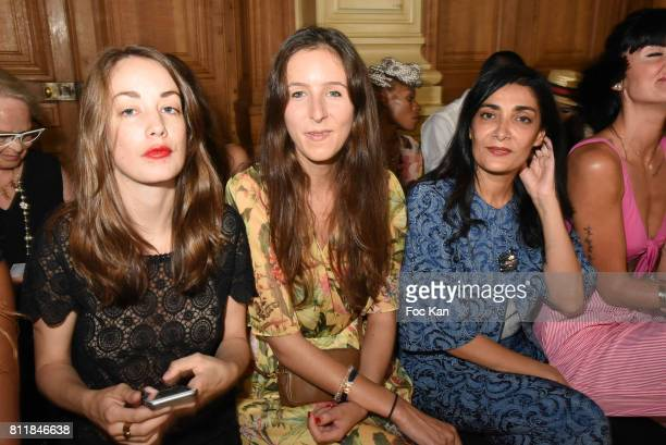 Juliette Besson Clemence Rochefort and Fatima Adoun attend the Dany Attrache Haute Couture Fall/Winter 20172018 show as part of Haute Couture Paris...
