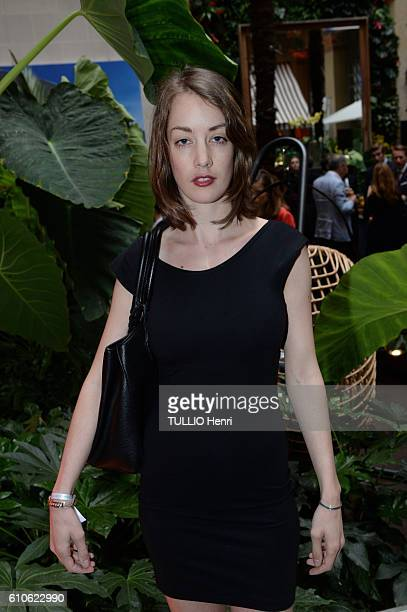 Juliette Besson poses for Paris Match in the brazilian party at the Hotel Prince de Galles on june 29 2016 in Paris France