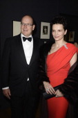 Juliette Binoche and Prince Albert II of Monaco arrive at the 'Cartier Le Style et L'Histoire' Exhibition Private Opening at Le Grand Palais on...