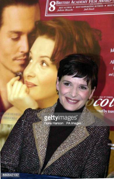 Juliette Binoche at Claridges Hotel Central London after learning she had landed a Best Actress Academy Awards nomination for her role in the film...