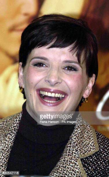 Juliette Binoche at Claridges Hotel Central Londonafter learning she had landed a Best Actress Academy Awards nomination for her role in the film...