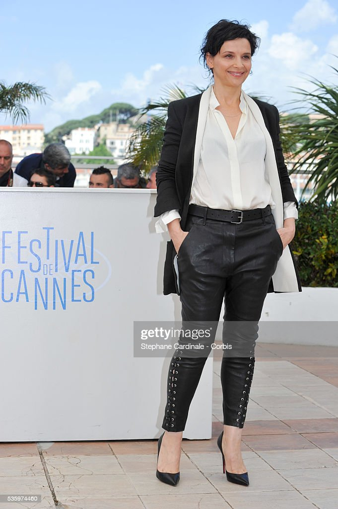 Juliette Binoche attend the 'Clouds Of Sils Maria' photocall during the 67th Cannes Film Festival
