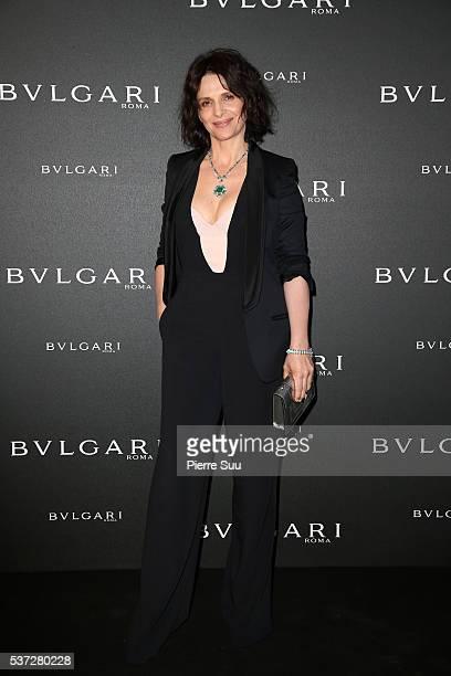 Juliette Binoche attends a BVLGARI press dinner during a fourday BVLGARI Brand Event on June 1 2016 in Monaco Monaco