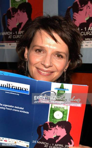 Juliette Binoche attends a screening of A Few Days In September as part of the 'A RendezVous With French Cinema' festival in central London