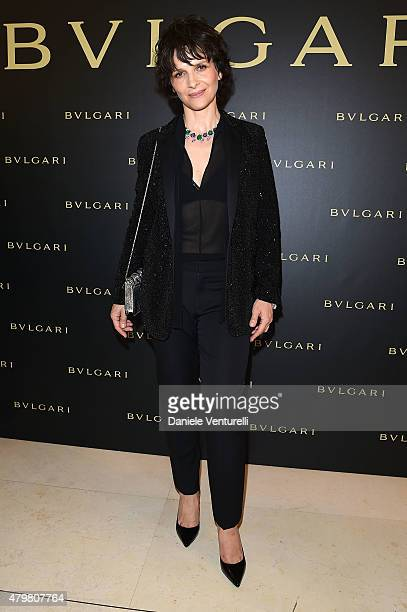 Juliette Binoche attends Bulgari Haute Couture Cocktail Party Model Show on July 7 2015 in Paris France