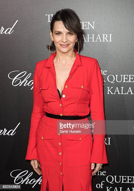 Juliette Binoche attends Chopard presenting The Garden of Kalahari at Theatre du Chatelet on January 21 2017 in Paris France