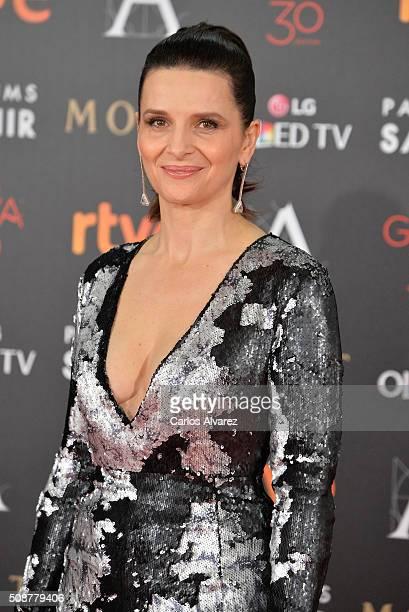 Juliette Binoche attends Goya Cinema Awards 2016 at Madrid Marriott Auditorium on February 6 2016 in Madrid Spain