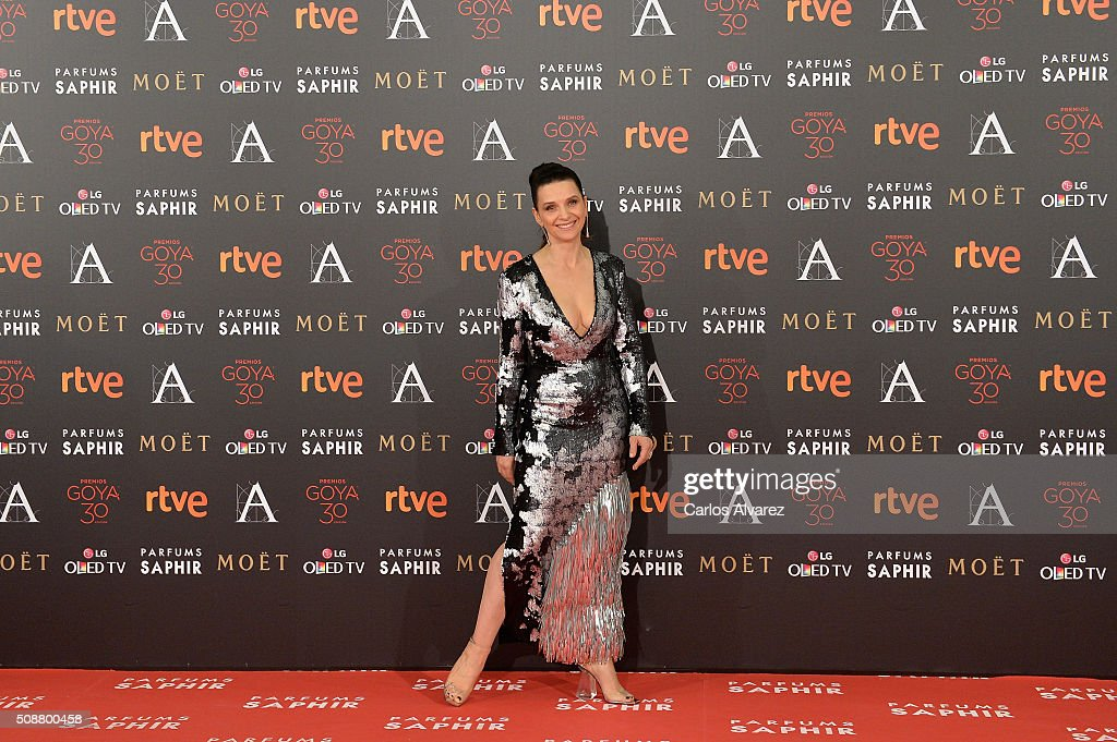 <a gi-track='captionPersonalityLinkClicked' href=/galleries/search?phrase=Juliette+Binoche&family=editorial&specificpeople=209273 ng-click='$event.stopPropagation()'>Juliette Binoche</a> attends Goya Cinema Awards 2016 at Madrid Marriott Auditorium on February 6, 2016 in Madrid, Spain.
