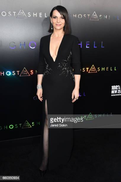 Juliette Binoche attends Paramount Pictures DreamWorks Pictures Host the Premiere of 'Ghost in the Shell' at AMC Lincoln Square Theater on March 29...
