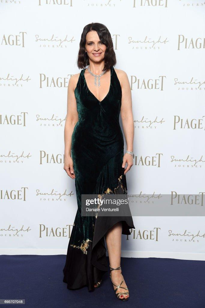 Juliette Binoche attends Piaget Sunlight Journey Collection Launch on June 13, 2017 in Rome, Italy.