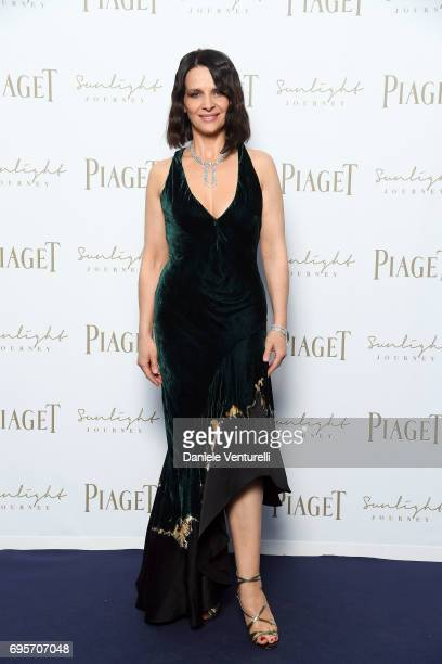 Juliette Binoche attends Piaget Sunlight Journey Collection Launch on June 13 2017 in Rome Italy