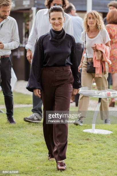 Juliette Binoche attends the 10th Angouleme FrenchSpeaking Film Festival on August 25 2017 in Angouleme France