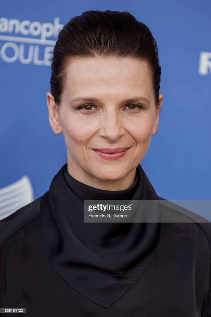 Juliette Binoche attends the 10th Angouleme French-Speaking Film Festival on August 25, 2017 in Angouleme, France.