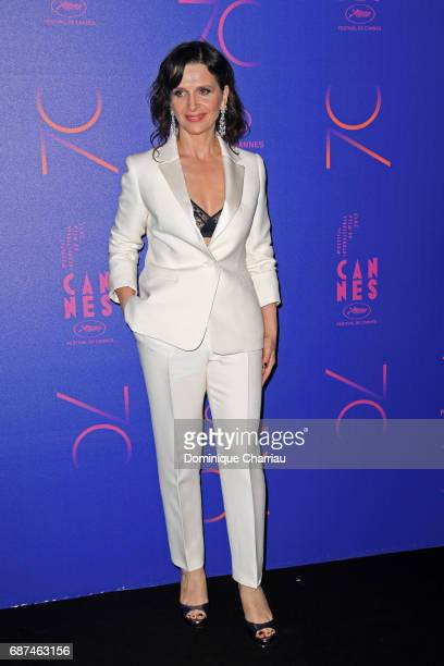 Juliette Binoche attends the 70th Anniversary Dinner during the 70th annual Cannes Film Festival at on May 23 2017 in Cannes France