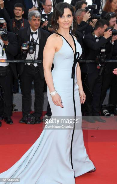 Juliette Binoche attends the 70th Anniversary screening during the 70th annual Cannes Film Festival at Palais des Festivals on May 23 2017 in Cannes...