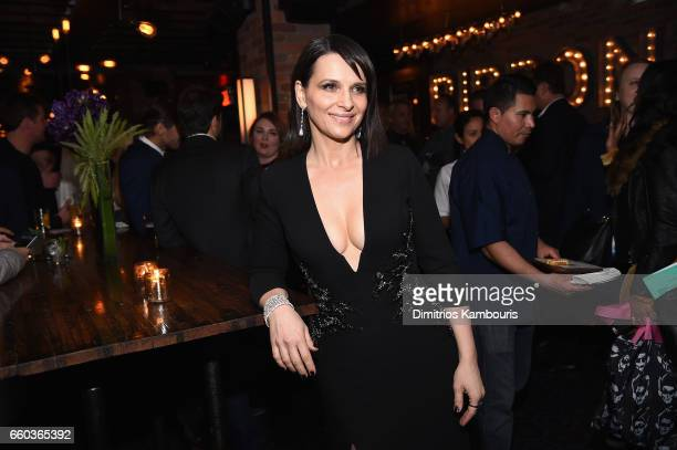 Juliette Binoche attends the after party for the premiere of 'Ghost In The Shell' hosted by Paramount Pictures and Dreamworks Pictures at The Ribbon...