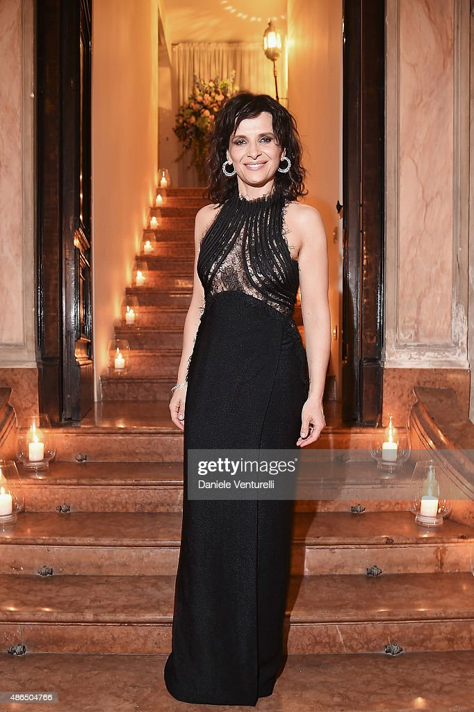 Juliette Binoche attends the Chopard Imperiale Private Dinner during the 72nd Venice Film Festival at on September 4 2015 in Venice Italy