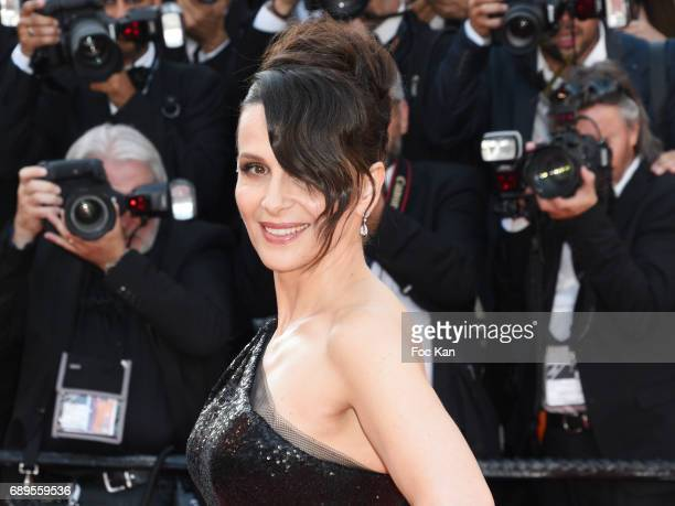 Juliette Binoche attends the Closing Ceremony during the 70th annual Cannes Film Festival at Palais des Festivals on May 28 2017 in Cannes France