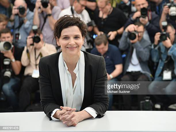 Juliette Binoche attends the 'Clouds Of Sils Maria' photocall during the 67th Annual Cannes Film Festival on May 23 2014 in Cannes France