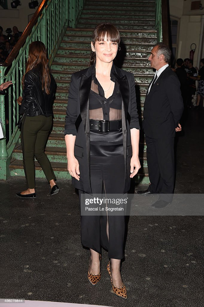 Juliette Binoche attends the Givenchy show as part of the Paris Fashion Week Womenswear Spring/Summer 2015 on September 28 2014 in Paris France