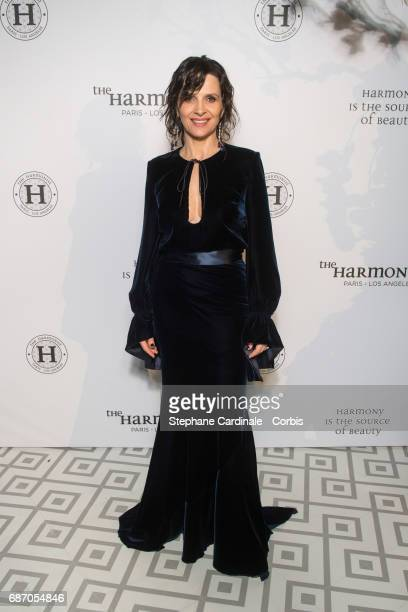 Juliette Binoche attends The Harmonist Party during the 70th annual Cannes Film Festival at on May 22 2017 in Cannes France
