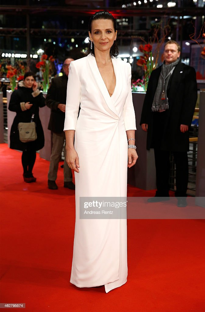 Juliette Binoche attends the 'Nobody Wants the Night' Opening Night premiere during the 65th Berlinale International Film Festival at Berlinale...