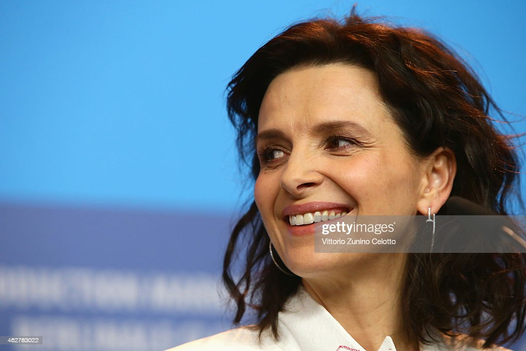 Juliette Binoche attends the 'Nobody Wants the Night' press conference during the 65th Berlinale International Film Festival at Grand Hyatt Hotel on...