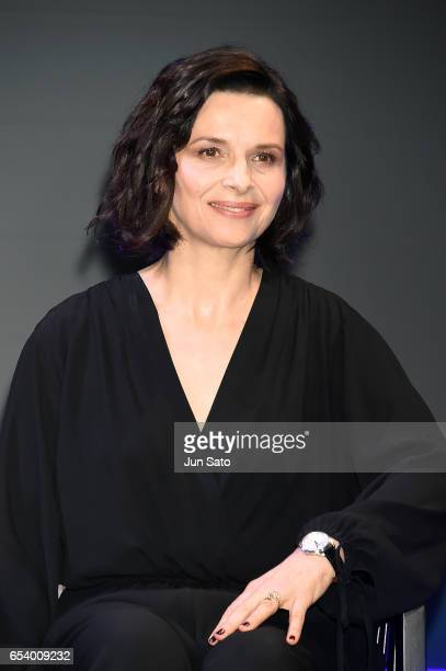 Juliette Binoche attends the official press conference ahead of the World Premiere of the Paramount Pictures release 'Ghost In The Shell' at the Ritz...