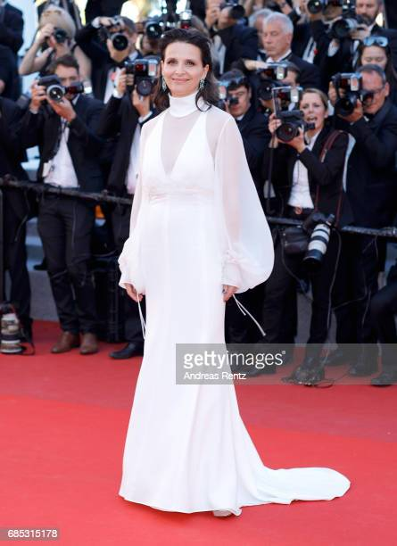 Juliette Binoche attends the 'Okja' screening during the 70th annual Cannes Film Festival at Palais des Festivals on May 19 2017 in Cannes France