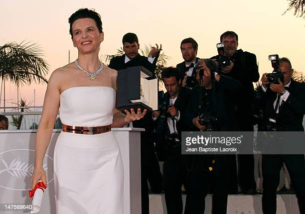 Juliette Binoche attends the Palme d'Or Award Ceremony Photo Call held at the Palais des Festivals during the 63rd Annual International Cannes Film...