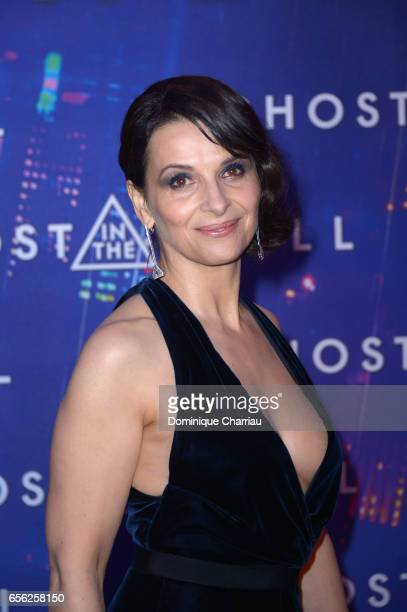 Juliette Binoche attends the Paris Premiere of the Paramount Pictures release 'Ghost In The Shell' at Le Grand Rex on March 21 2017 in Paris France