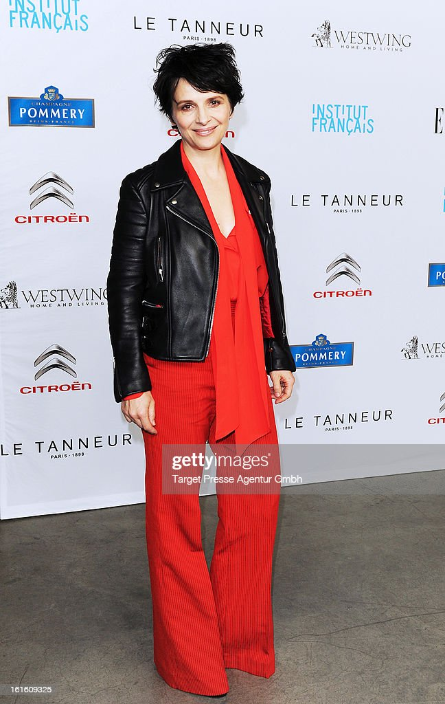Juliette Binoche attends the 'Soiree Francaise Du Cinema' at the French embassy on February 12, 2013 in Berlin, Germany.