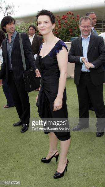 Juliette Binoche during 2005 Cannes Film Festival 'Cache' Photocall in Cannes France