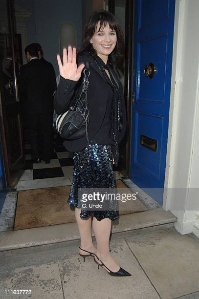 Juliette Binoche during Doctor Joshi's 'Holistic Detox' Book Launch at Arts Club in London Great Britain