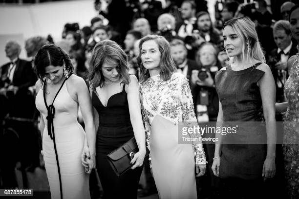 Juliette Binoche Emilie Dequenne Isabelle Huppert and Elodie Bouchez attend the 70th Anniversary screening during the 70th annual Cannes Film...